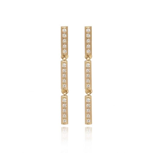 bamboo earrings (diamonds)