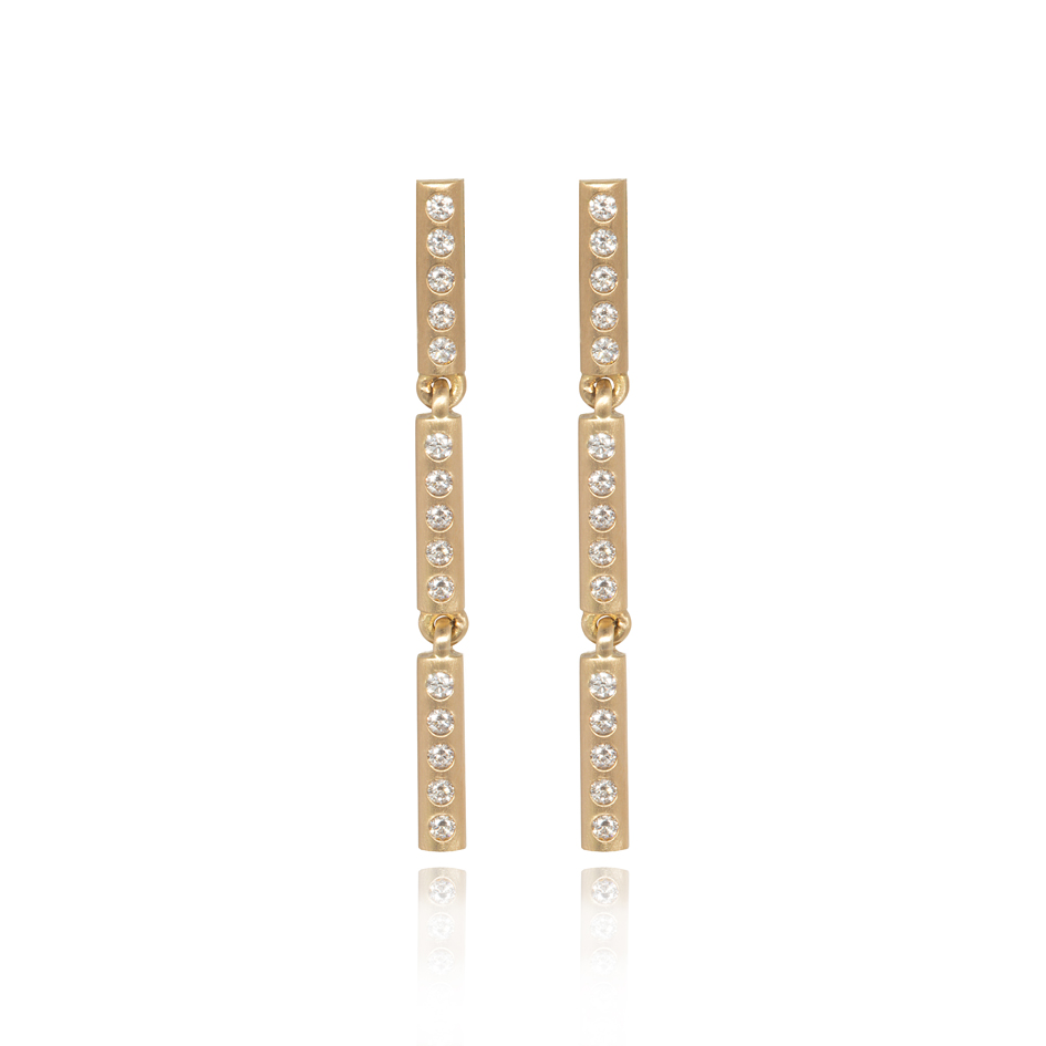 bamboo earrings (diamonds)