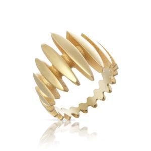 18ct gold mirage ring