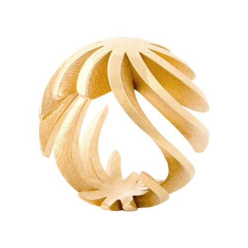 sun ring - 18ct gold