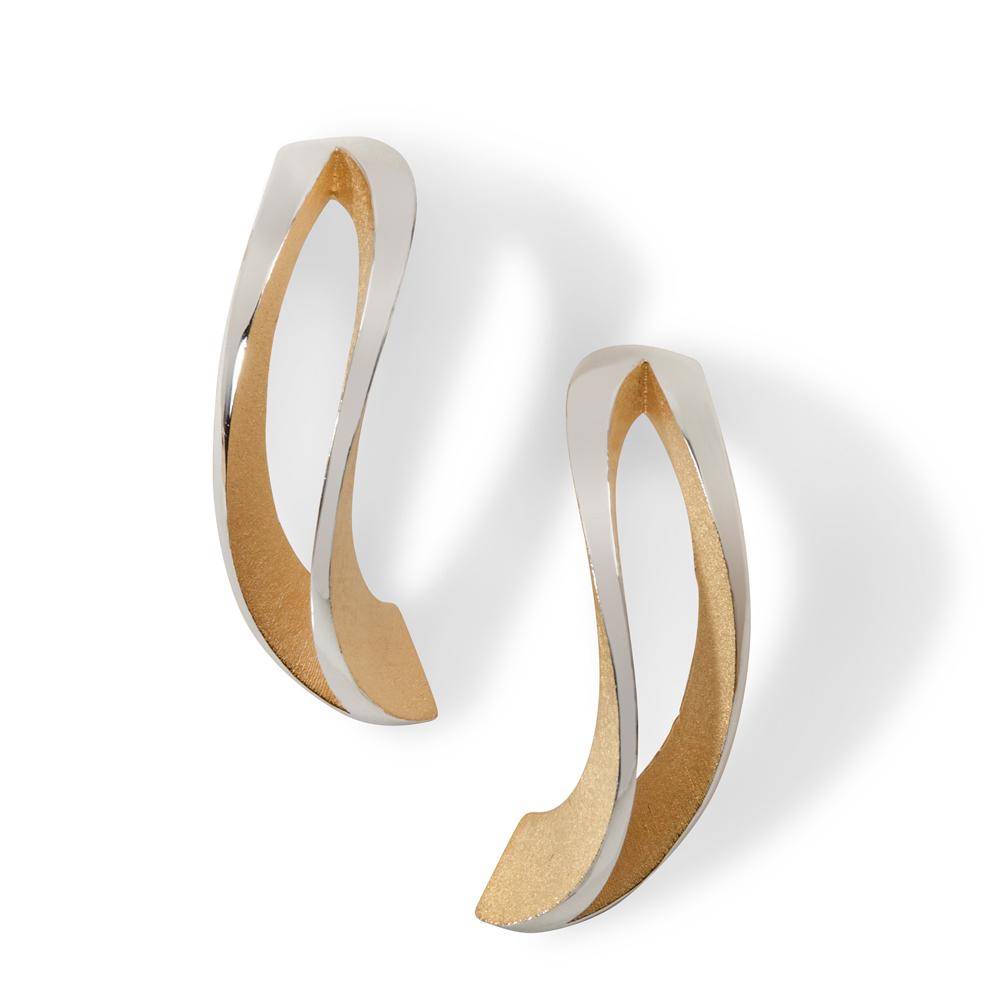 2-way twist earrings - gold plate