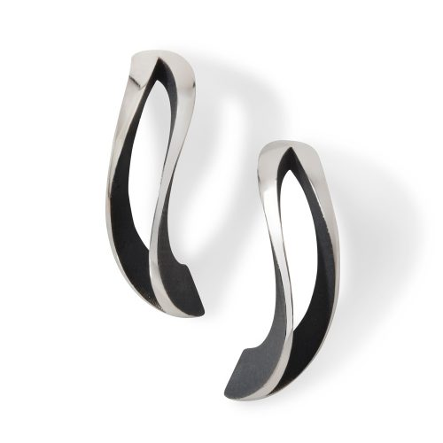 2-way twist earrings - oxidised