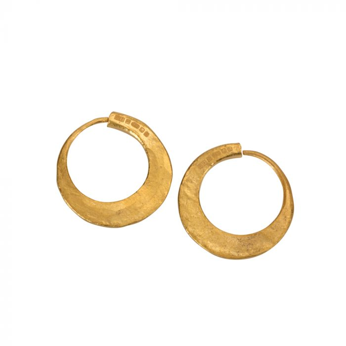 24ct pure gold hoops earring