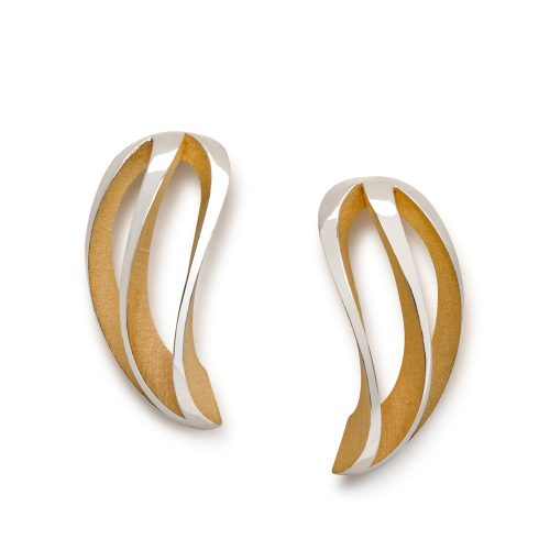 3-way twist earrings - gold plate interior