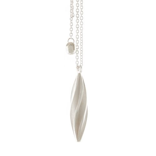 Beat twist pendant - white