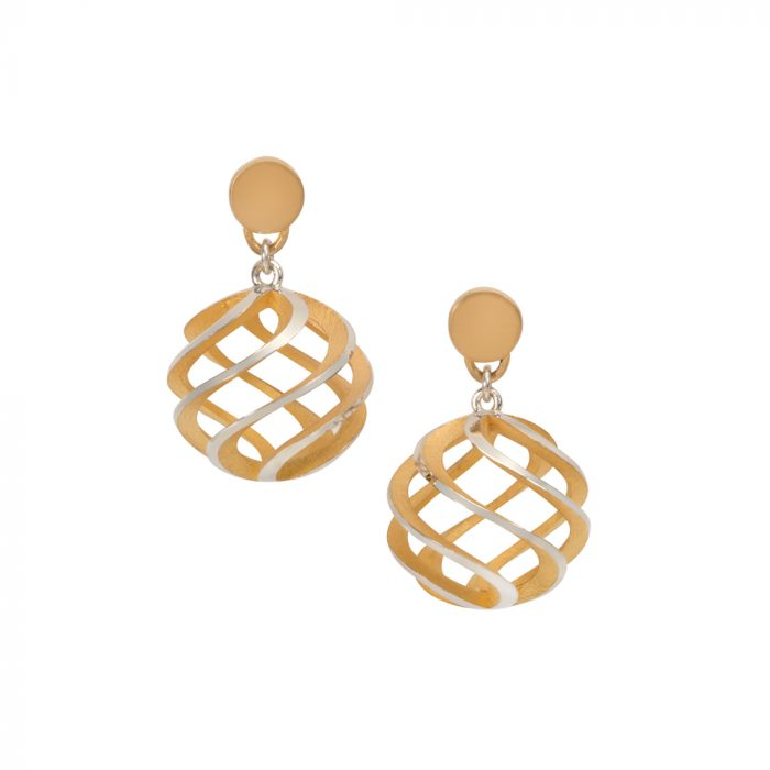 sun earrings - large, gold plate interior
