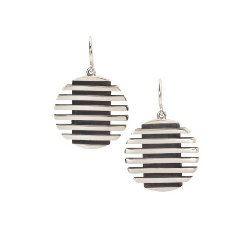 escalator earrings - oxidised