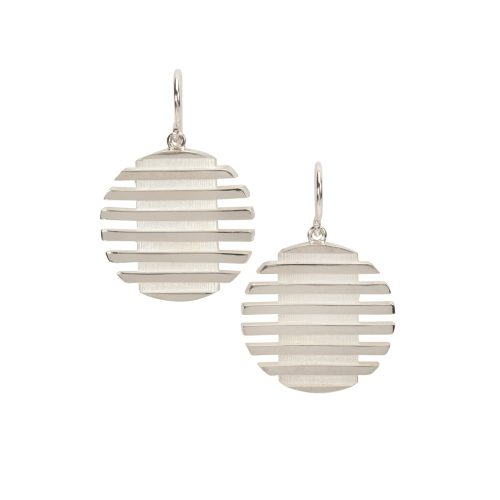 escalator earrings - white