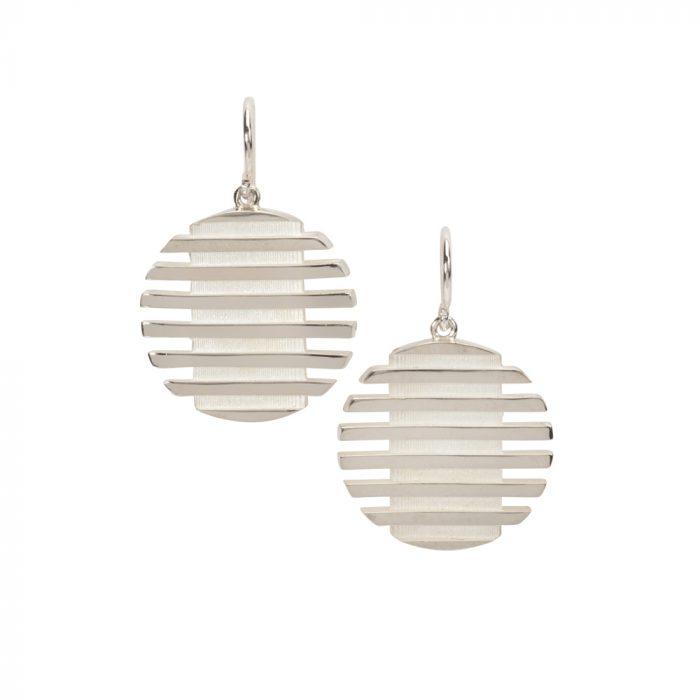 escalator earrings - white