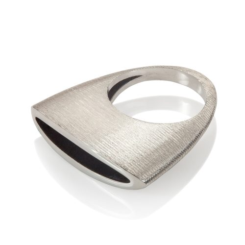 herring ring - silver