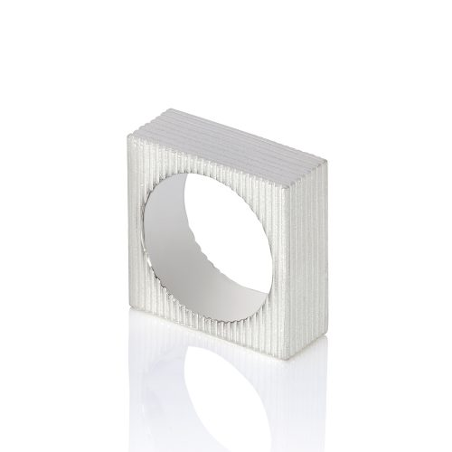 cube ring - textured