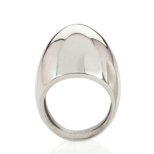 plain egg ring - polished