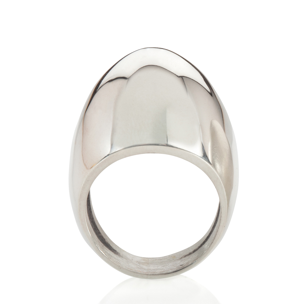 plain egg ring - polished