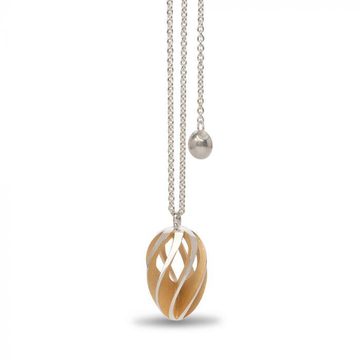 twist & shout pendant - gold plate interior