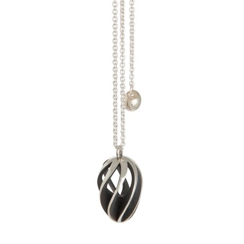 twist & shout pendant - oxidised