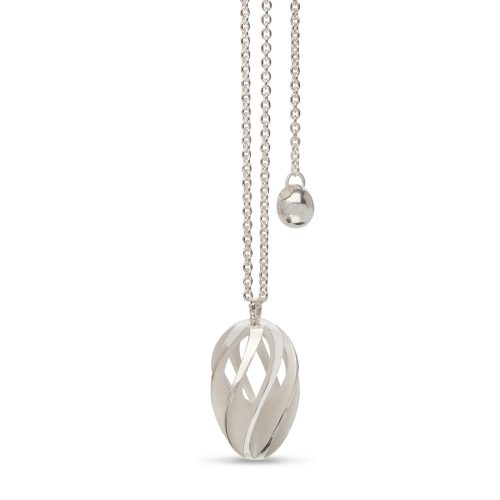 twist & shout pendant - white