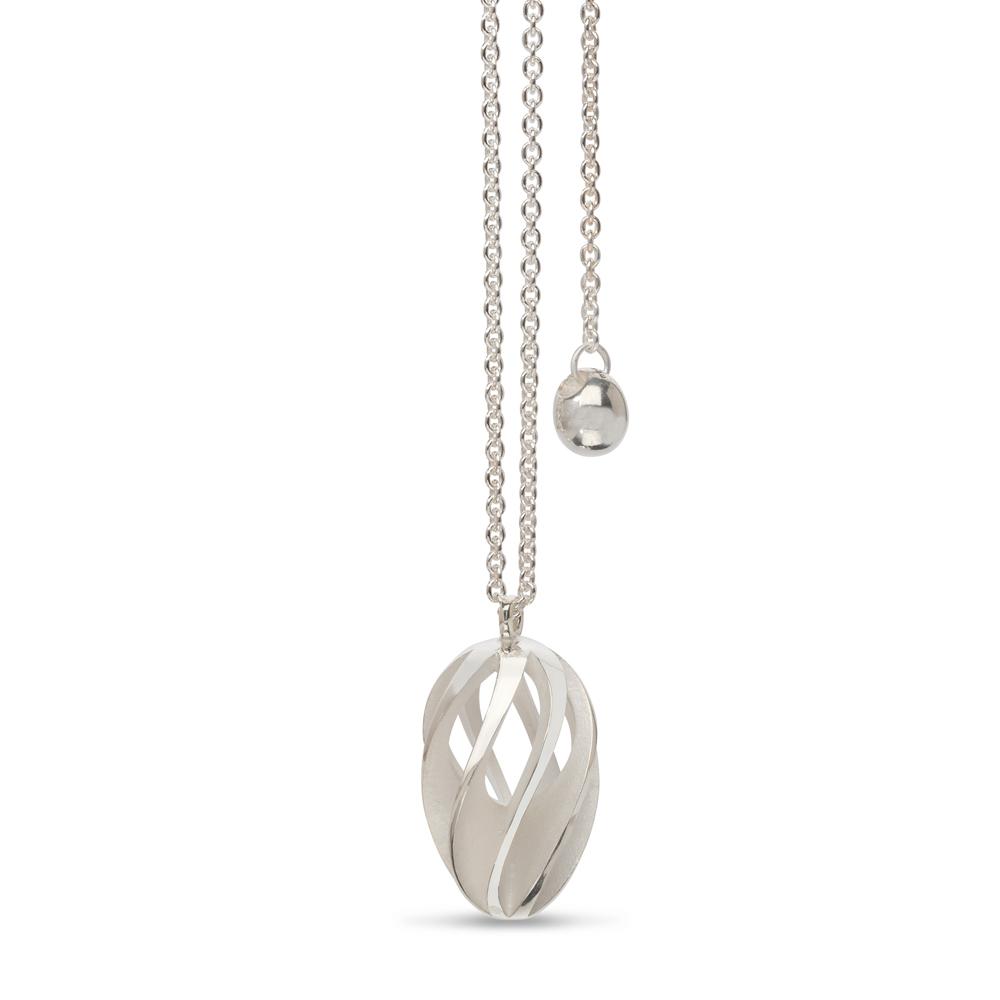 twist & shout pendant - white