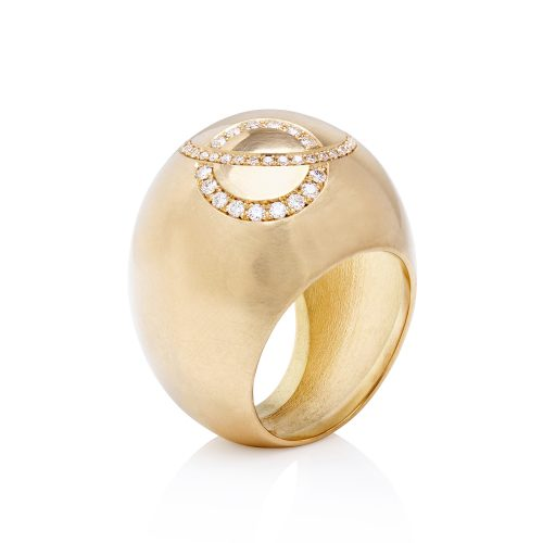 18ct gold Venn Ring