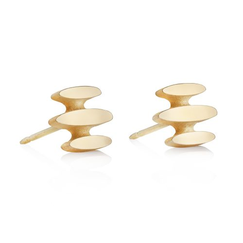 mirage earring studs - 18ct gold