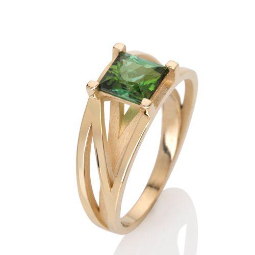 18ct gold crane ring