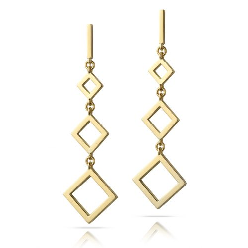 graphic diamond drop earrings