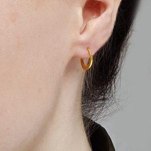 24ct Gold Hoop Earring