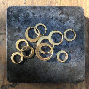 Pure Gold Hoop Earrings