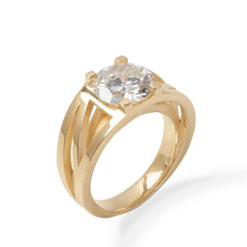 Modern engagement ring with heirloom diamond by Sarah Herriot Jewellery Designer