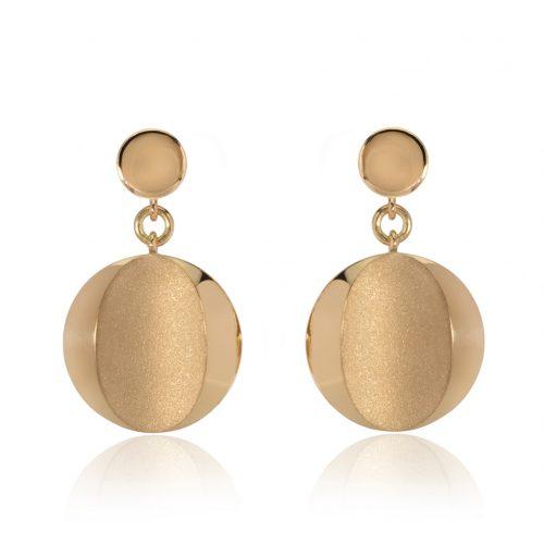 cats eye earrings 18ct gold