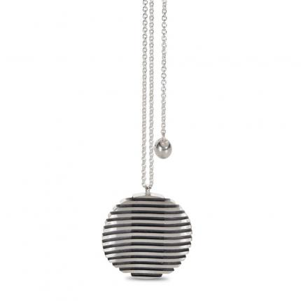 escalator-pendant-silver-large-oxidised-Sarah-Herriot-Jewellery-London