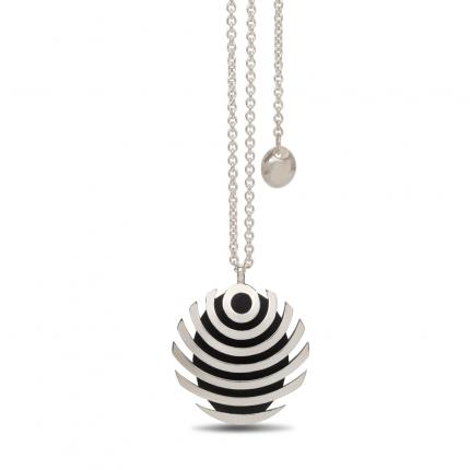 fish-button-pendant-silver-lariat-oxidised-Sarah-Herriot-Jewellery-London