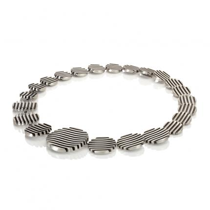 escalator-neck-piece-silver-oxidised-2-Sarah-Herriot-Jewellery-London