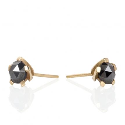 black-diamond- studs-18ct-gold-5-twist-Sarah-Herriot-Jewellery-London