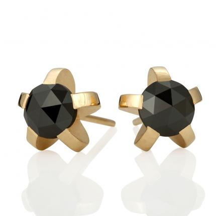 black-diamond-studs-18ct-gold-5-splice-Sarah-Herriot-Jewellery-London