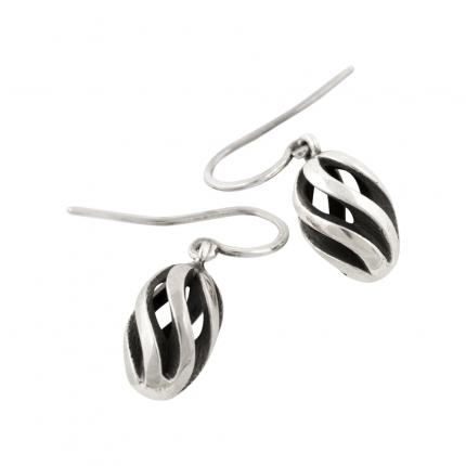 twist-and-shout-earrings-silver-oxidised-Sarah-Herriot-Jewellery-London
