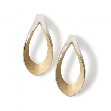 mirror-twist-earrings-silver-gold-plate-interior-Sarah-Herriot-Jewellery-London