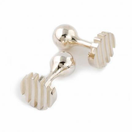 escalator-cufflinks-silver-white-Sarah-Herriot-Jewellery-London