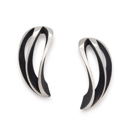 3-way-twist-earrings-silver-oxidised-Sarah-Herriot-Jewellery-London