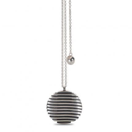 escalator-pendant-silver-medium-oxidised-Sarah-Herriot-Jewellery-London