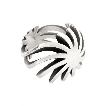 sun-ring-silver-small-oxidised-Sarah-Herriot-Jewellery-London