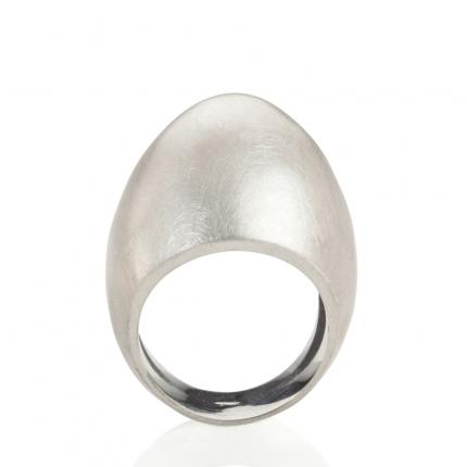 plain-egg-ring-brushed-silver-Sarah-Herriot-Jewellery-London