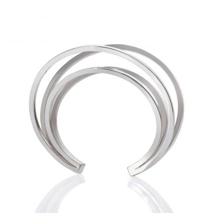 double-crane-bangle-silver-Sarah-Herriot-Jewellery-London