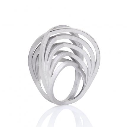 double-crane-ring-silver-rhodium-plate-Sarah-Herriot-Jewellery-London