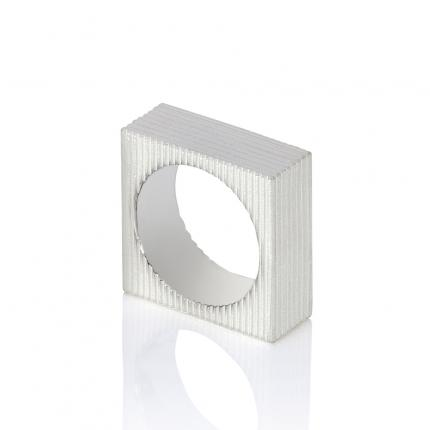 mens-square-textured-silver-ring-Sarah-Herriot-Jewellery-London