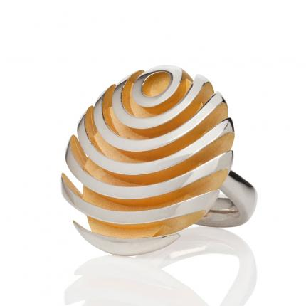 fish-button-ring-silver-gold-plate-Sarah-Herriot-Jewellery