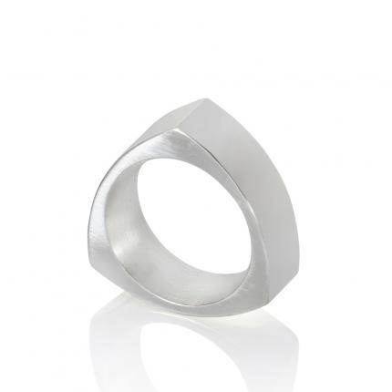 mens-triangular-silver-ring-Sarah-Herriot-Jewellery-London