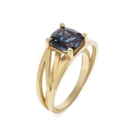 crane-ring-18ct-gold-blue-spinel-Sarah-Herriot-Jewellery-London