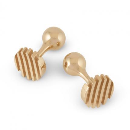 escalator-cufflinks-silver-9ct-gold-Sarah-Herriot-Jewellery-London