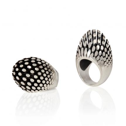 manhattan-egg--rings-oxidised-silver-Sarah-Herriot-Jewellery-London