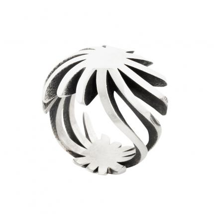 sun-ring-silver-large-oxidised-2-Sarah-Herriot-Jewellery-London
